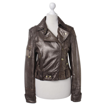 Blessed & Cursed Leather jacket in metallic