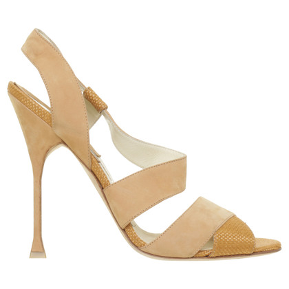 Brian Atwood Sandals in Cognac Brown