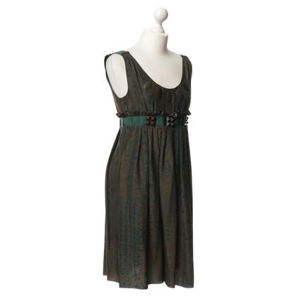 Riani zijden jurk met decoratieve bekleding