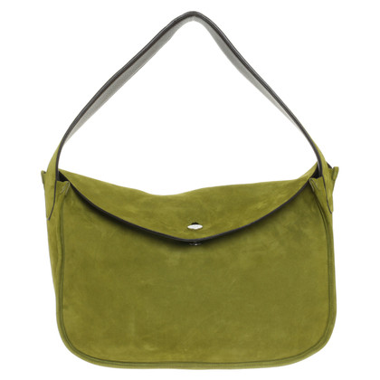Loro Piana Turning bag in green and Brown