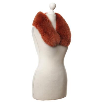 Altre marche Vintage - collo di pelliccia in arancione rosso