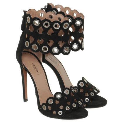Alaïa Sandals with eyelets details