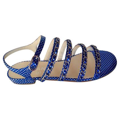 Chanel Blaue Sandalen