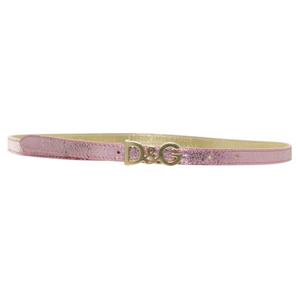 D&G Belt in pink