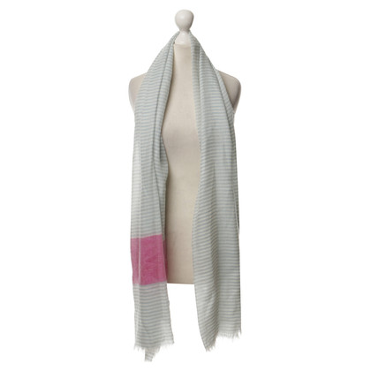 Etro Cashmere scarf in turquoise and pink