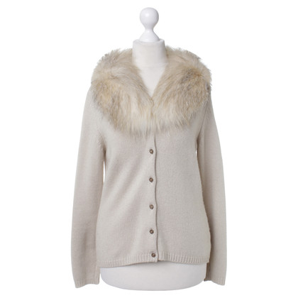 Blumarine Cardigan with fur collar