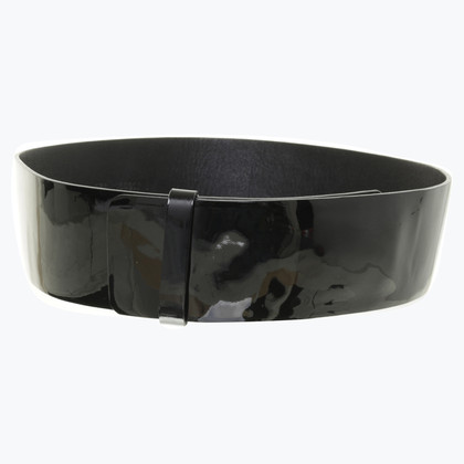 Jil Sander Belt in black patent leather