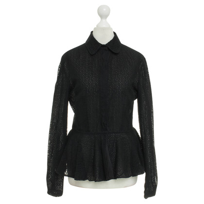 Alexander McQueen Lace blouse with peplum
