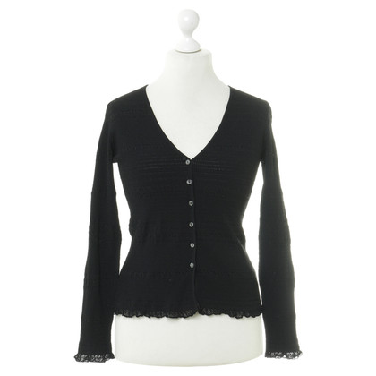 Bruno Manetti Cardigan in Schwarz