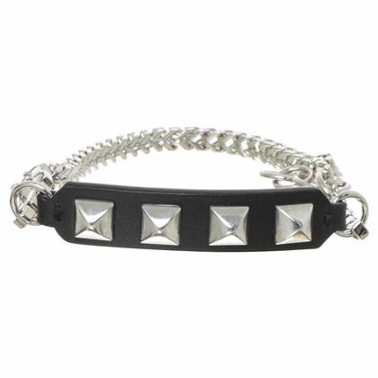 Karl Lagerfeld Studs lederen armband