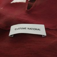 Costume National Top met zijde trim