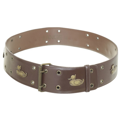 Rena Lange Vintage belt with a duck motif