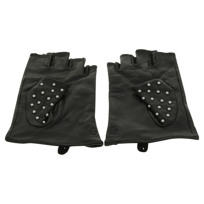 Karl Lagerfeld Gloves with studs trim