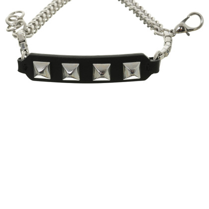 Karl Lagerfeld Rivet leather bracelet
