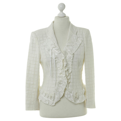 Emanuel Ungaro Linen Blazers with hole pattern