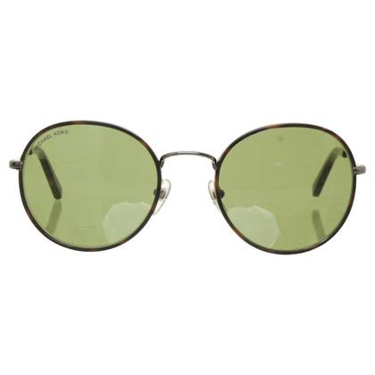 Michael Kors Ronde metalen frame zonnebril