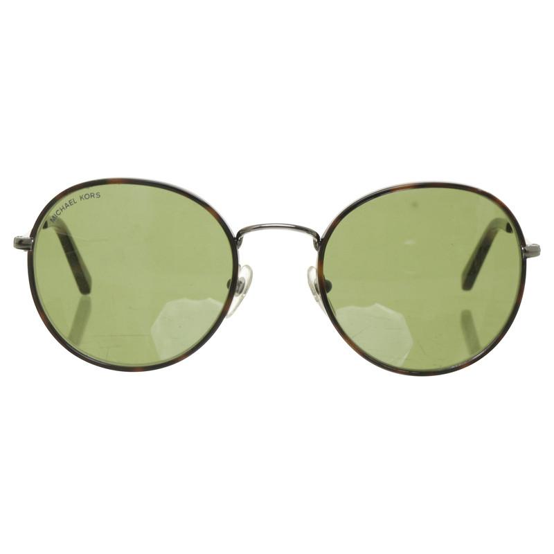 michael kors runde sonnenbrille mit metallrahmen second hand michael kors runde sonnenbrille. Black Bedroom Furniture Sets. Home Design Ideas