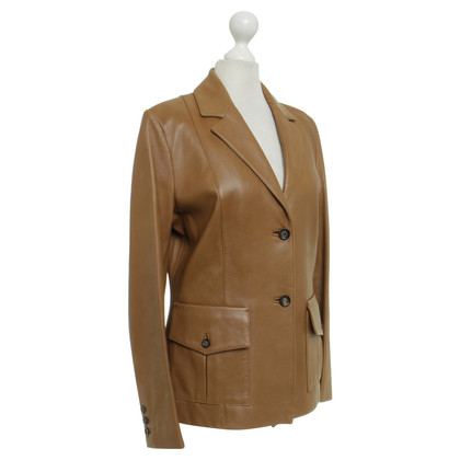 Aigner Leather Blazer in Brown