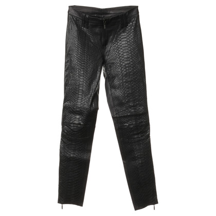 Plein Sud Leather pants in black