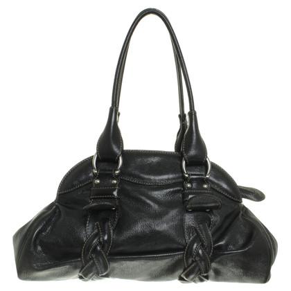 Coccinelle Handbag with Wicker details
