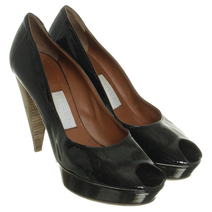 Lanvin Platform of peep-toes in patent leather