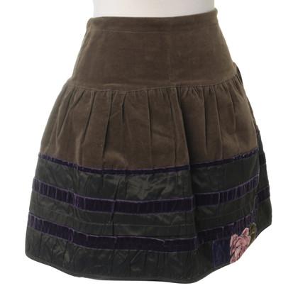 Blumarine skirt with velvet details