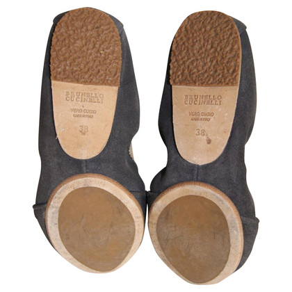 Brunello Cucinelli Leather ballerinas