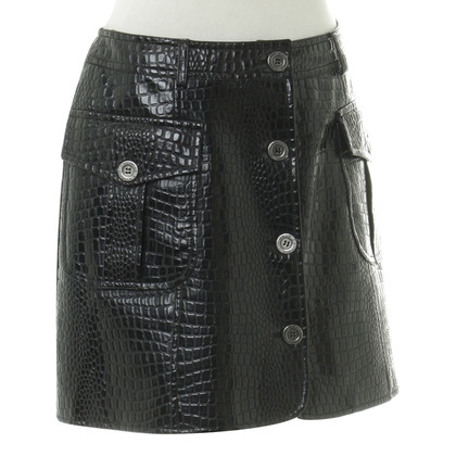 Moschino skirt leather
