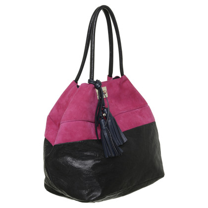 Chloé Shopper in nero-rosa