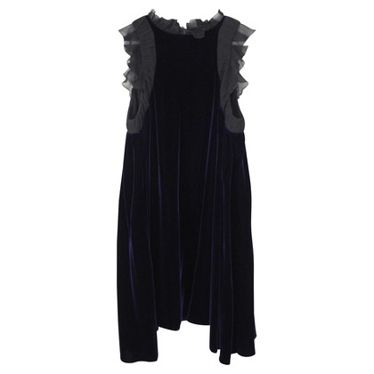 Pringle of Scotland blue velvet dress