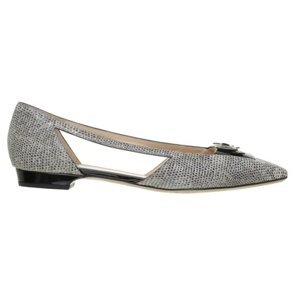Bally Cut out ballerina reptile leather