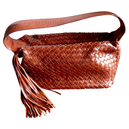 Other Designer Francesco Biasia - Leather Bag with tassel
