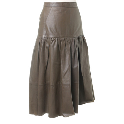 Reiss skirt leather