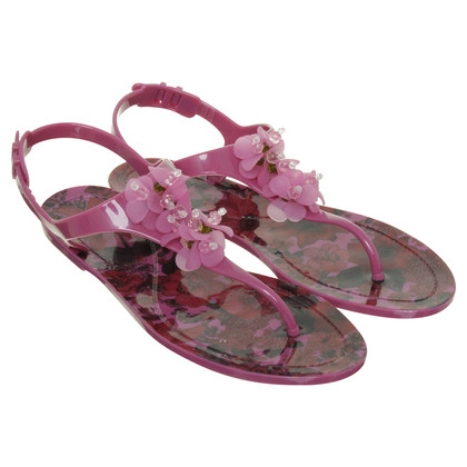 Red Valentino Sandals with flowers applications