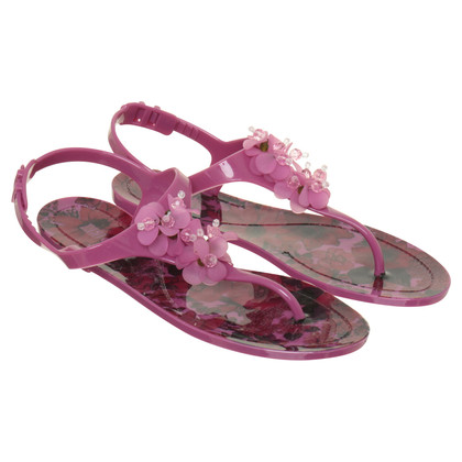 Red Valentino Sandals with floral decoration