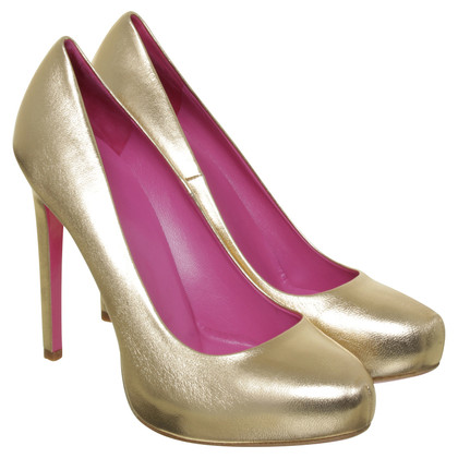 Gianni Versace Plateau Pumps pink gold