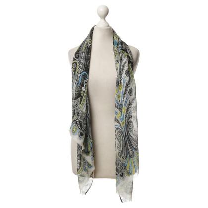 Etro Zijden sjaal Paisley patroon