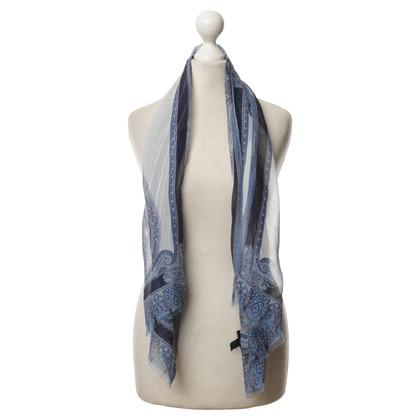 Etro Zijden sjaal blauw
