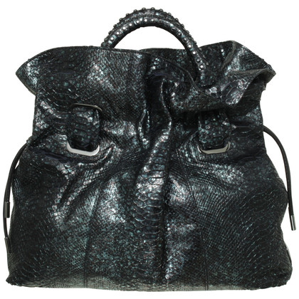 Donna Karan Python bag in dark green