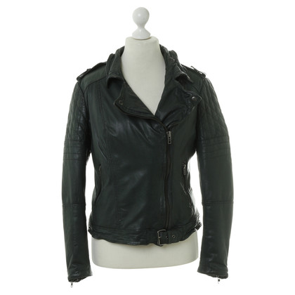 Muubaa Leather jacket in dark green