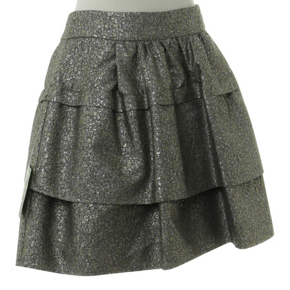 Diane von Furstenberg skirt in metallic-look