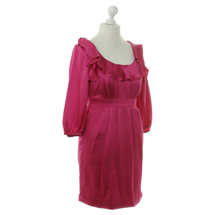 Tibi zijden jurk roze