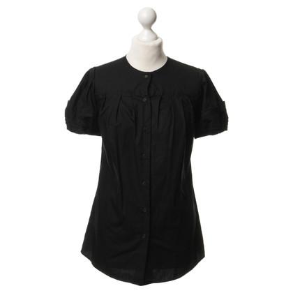 Miu Miu Short sleeve blouse in black