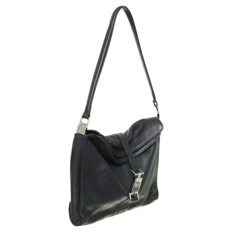 Gucci Lederhandtasche in Schwarz Schwarz Rabatt Original Billig Neueste Gutes Angebot Auslass Visa Zahlung Verkauf Beliebt oBLaP