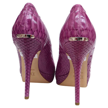 Christian Dior Peep-toes Phyton leather