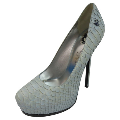 Philipp Plein Plateau Pumps from Python leather