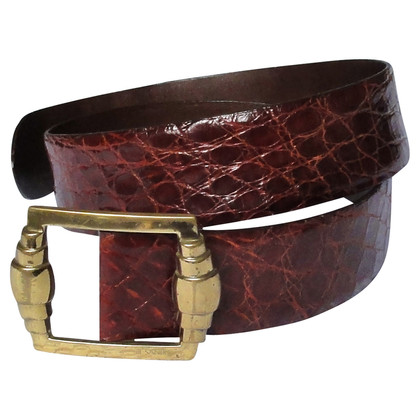 Jil Sander Crocodile leather belt