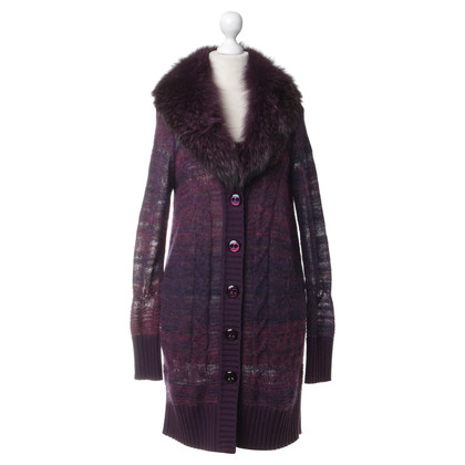 Escada Sweater coat with fur trim