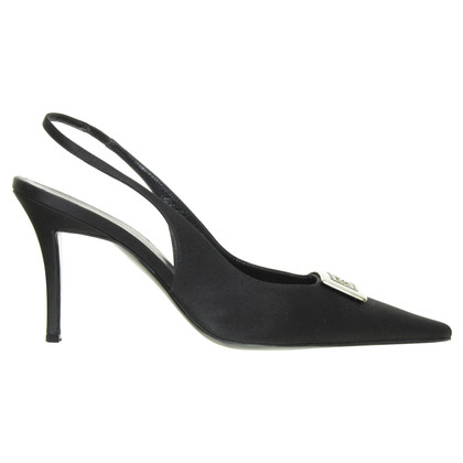 Escada Sling Pumps with logo buckle