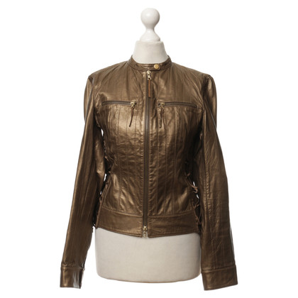 Hugo Boss Leather jacket in gold